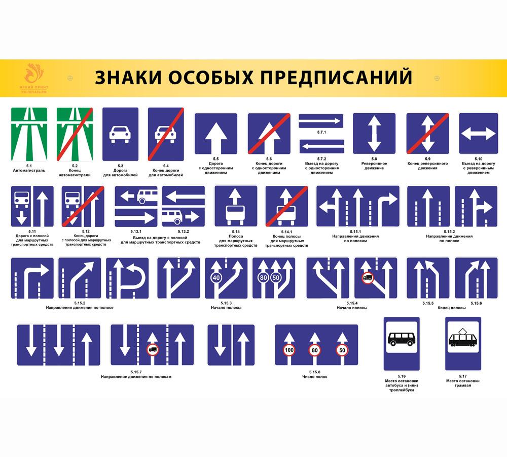 тут дорожные знаки особого предписания картинки с названиями наличии