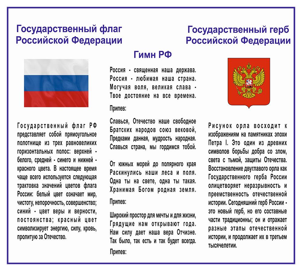 список герб гимн и флаг российской федерации описание порядок использования делаем длинней ну